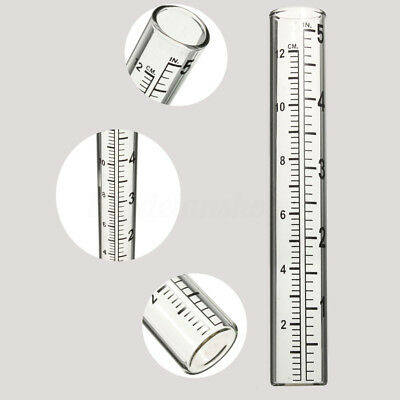 5'' 120mm Capacity Glass Rain Gauge Replacement Tube Measure Outdoor Home Garden