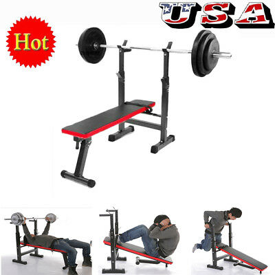 Adjustable Weight Bench Dumbbells Lifting Incline Flat Decline Press ABS Workout