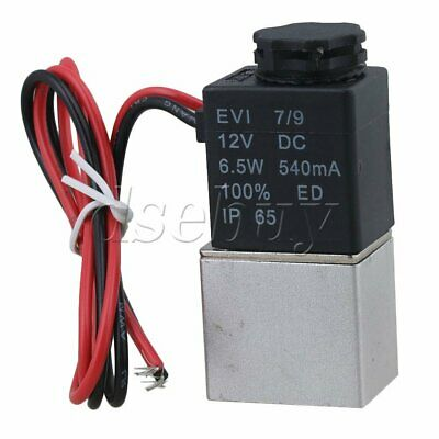"2 Way Normally Opened 12V Pneumatic Solenoid Valve for Air Water G1/8"" BQLZR"