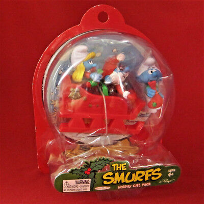 Jakks Pacific The Smurfs Figures Holiday Gift Pack NEW Santa and Smurf Elves