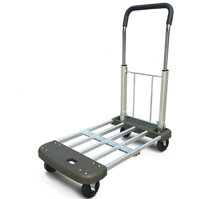 D28 Rugged Aluminium Luggage Trolley Hand Truck Folding Foldable Shopping Cart