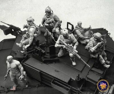 Resin Figure Kit 1/35 Special Force Army Miniature Model Kit