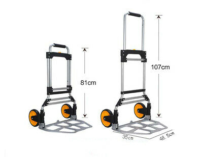 D17 Rugged Aluminium Luggage Trolley Hand Truck Folding Foldable Shopping Cart