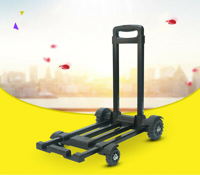 D47 Rugged Aluminium Luggage Trolley Hand Truck Folding Foldable Shopping Cart