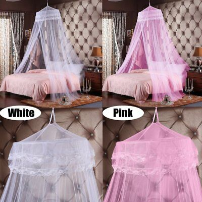 Single Door Queen Canopy Bed Curtain Dome Stopping Mosquito Net Midges Insect AU