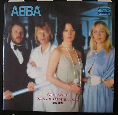"""Abba Voulez-Vous/does Your Mother Know 7"""" Vinyl Vg *very Rare Bulgarian Press*"""