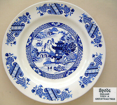 """Spode S3324 A: """"Christmas Tree"""": BUT Depicts a Willow Pattern: 10½"""" Dia"""