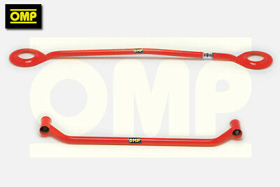 OMP UPPER & LOWER RED STRUT BRACE PEUGEOT 205 GTi 1.6/1.9