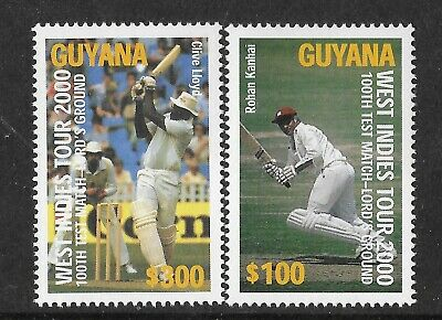 GUYANA 2000 LORD'S CENTENARY CRICKET 100th TEST MATCH 2v MNH