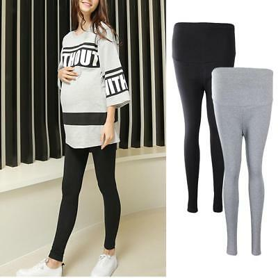 Maternity Leggings Pants Long Solid Stretch Cotton Clothings for Pregnant Women
