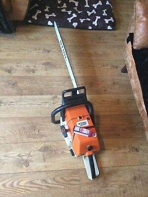 Stihl ms 880 petrol pro felling saw with brand new 36 inch bar and chain