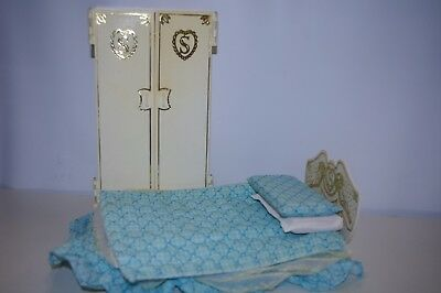Vintage Sindy Wardrobe & Bed Set By Pedigree