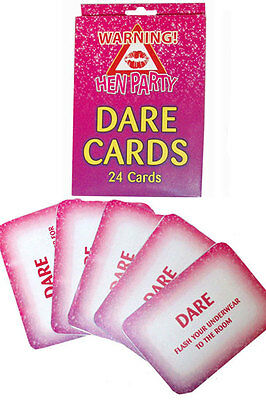 20 Hen Party Dare Cards Novelty Game Night Out