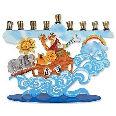 happy chanukah hanukkah painted menorah 14 99 picclick