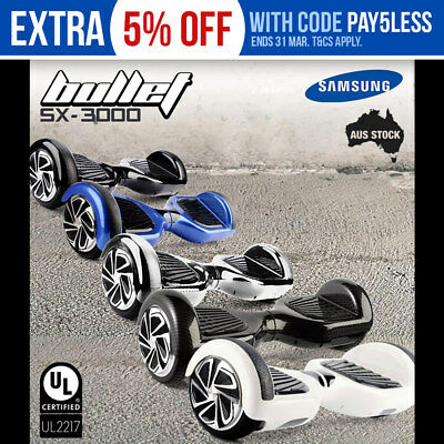 NEW Bullet Hoverboard Scooter Self-Balancing Electric Hover Board Skateboard