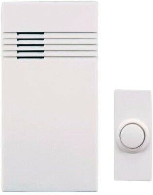 Wireless Battery Operated Door Bell Chime Kit Doorbell Push Button Home 2 Entry