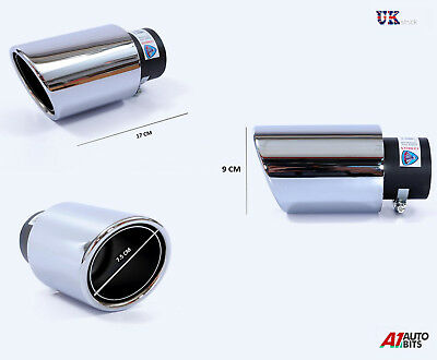 Sport Exhaust Muffler Pipe Tail Tip Chrome For Audi A4 A7 100 A3 A6 A5 A2