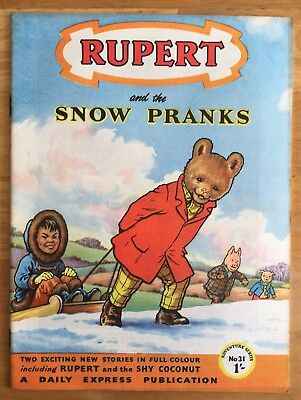 RUPERT Adventure Series No 31 Snow Pranks JANUARY 1957 FINE Ex-Shop Stock