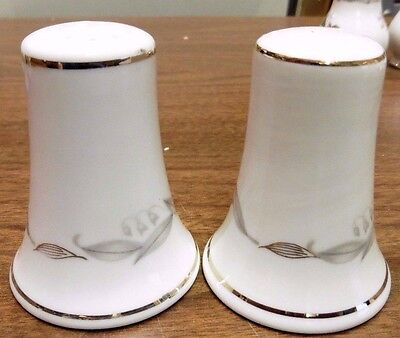 Perfect Condition 1961 Kaysons Fine China Golden Fantasy Salt & 1 Pepper Shakers