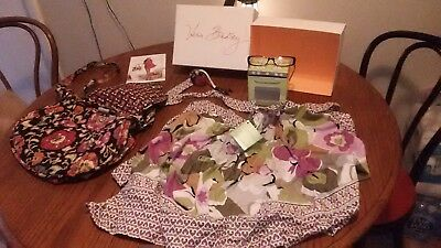 Lot of Vera Bradley items handbag,  apron NWT, tape measure, eyeglasses LOOK!