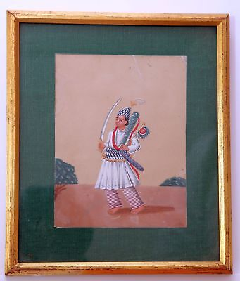 Indian mica Company painting of a soldier