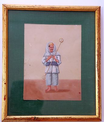 Indian mica Company painting of a staff bearer