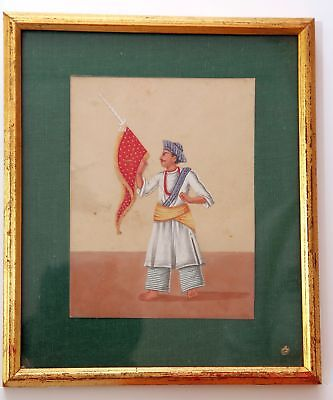 Indian mica Company painting of a man