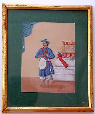 Indian mica Company painting of a drummer