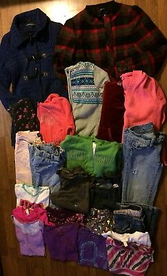 girls fall winter clothes sz 14/16 some sz s lot of 23 peacoat jeans nike pants