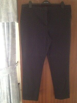 Ladies Size 18 Cotton Tapered Leg Trousers