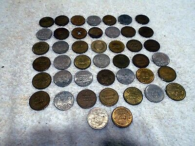 Lot of 44 VTG Car Wash Tokens Mixed Names Cars older tokens