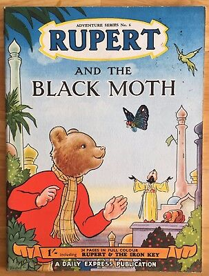 RUPERT Adventure Series 6 Rupert & The BLACK MOTH JULY 1950 FINE Ex-Shop Stock