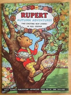 RUPERT Adventure Series No 34 Rupert Autumn Adventures September 1957 FINE