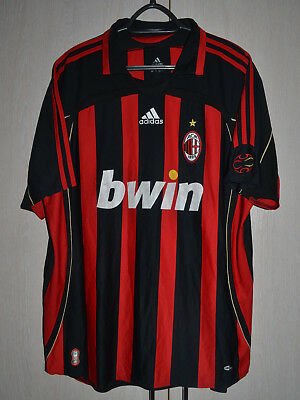 Ac Milan Italy 2006/2007 Home Football Shirt Jersey Adidas Kaka Era