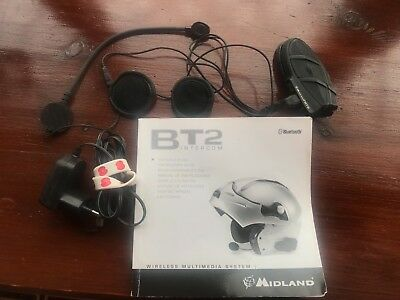 BT2 midland AUDIO KIT 2 SPEAKERS AND 2 REMOVABLE MICROPHONES