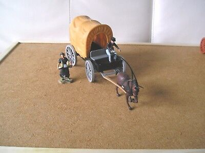 1:32 Timpo -  Original Chuck Wagon With One Horse - Driver - Female Figure Cook
