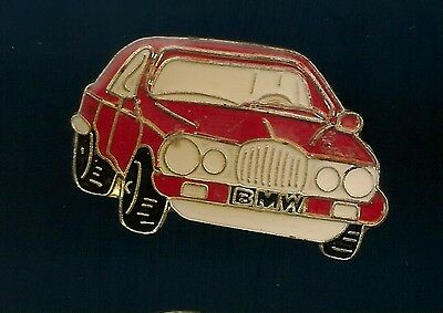 Vintage Red BMW Automobile old enamel pin