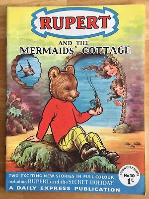 RUPERT Adventure Series No 30  Mermaid's Cottage Aug 1956 V FINE Ex-Shop Stock