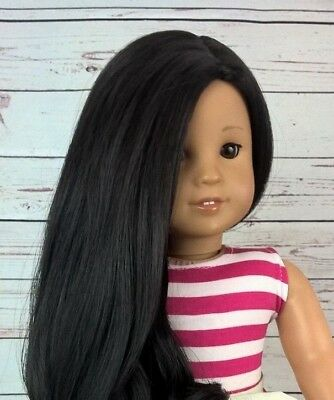 "10-11 Custom Doll Wig fit Blythe-American Girl-1/4 Size ""Midnight Swirl"" bn1"