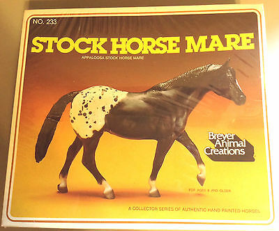 BREYER - Vintage Black Appaloosa Stock Horse Mare #233 1981 Sealed in Box MIP