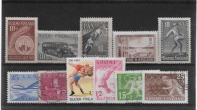 FINLAND SMALL USED UNUSED SELECTION CIRCA 1940's REF 292