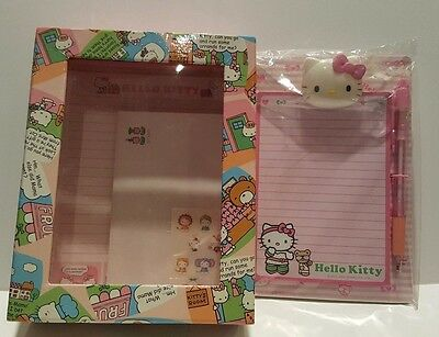 Hello Kitty Stationery Box and Clip Board Clipboard Set Lot Sanrio SMOKING HOME
