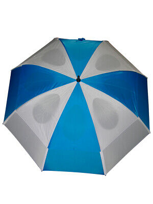GustBuster Pro Series Gold Umbrella 62 Inch Blue/White