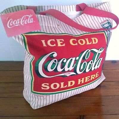 Coca-Cola Kitchen Linens Vintage 1991 Cotton Canvas Tote Bag