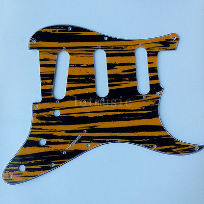 3 Ply 11 Hole Yellow Sallow SSS Pickguard for Fender Strat Electric Guitar Parts