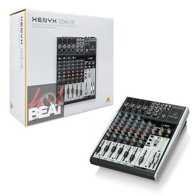 Behringer Xenyx 1204USB 12-Input Mixer Mic Preamp USB/Audio Interface NO EFFECTS