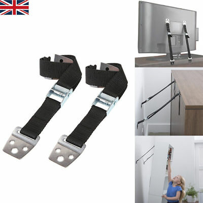 4x Anti-tip TV Furniture Positioning Straps Anchor Baby/Child Safety Proofing UK