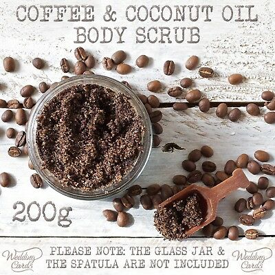 Homemade Coffee Sugar Coconut Cinnamon Body Scrub Anti-Cellulite Detox 200g Gift