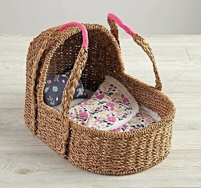 Land Of Nod Exclusive Doll Moses Baby Basket