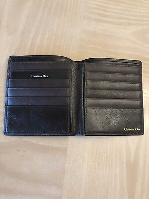 Christian Dior Men Wallet Authentic new soft brown leather original price 400.00